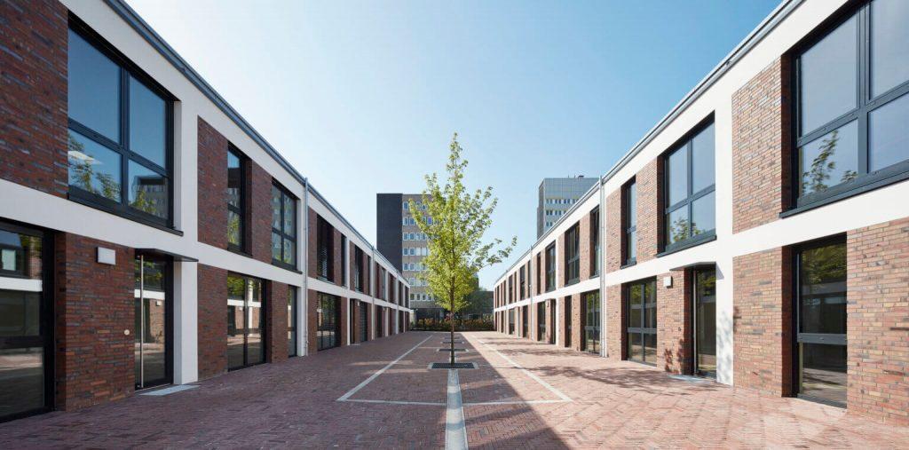 Das Headquarter der Kinetos Group in Köln, dem Hersteller und Anbieter von ultraschnellen Ladestationen und leistungsstarken On Board Charger. Dieses Foto dient zur Bebilderung der Unternehmensseite und des Impressum.