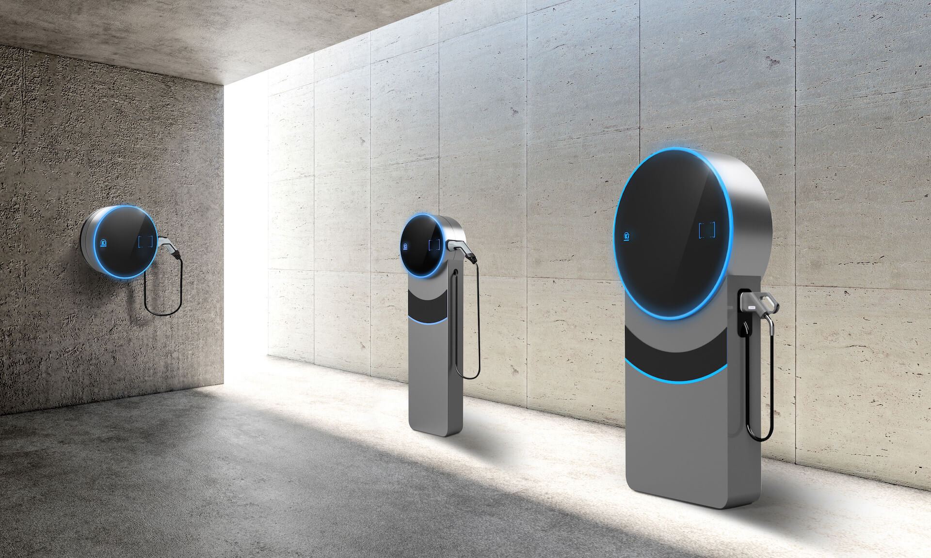 Kinetos product portfolio with wallboxes and charging stations for all for all electric vehicle classes and purposes